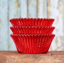Foil Red Cupcake Liners