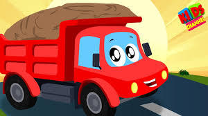 100 Dump Trucks Videos Kids Channel Little Red Car Truck Is Working Nursery