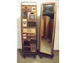 kommode spiegel schrank drehbar metall vintage look retro industrial retro loft
