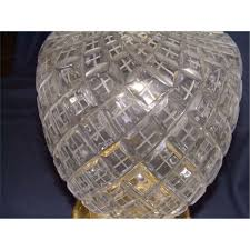 Waterford Lamp Shades Table Lamps by 2 Piece Matching Cut Crystal Glass Table Lamps Waterford No Marks