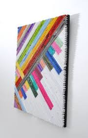 Tightly Rolled Up Magazine Pages Glued Onto Canvas Very Cool Image
