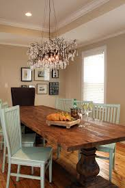 Rustic Kitchen Table Chandeliers Setting Dining Room Traditional With Dini On