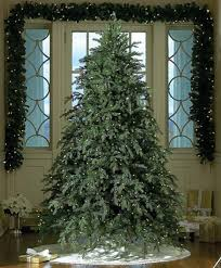Unlit Christmas Tree 9 by 9 U0027 Downswept Hunter Fir Pre Lit Artificial Christmas Tree Clear