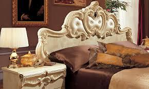 bett mit nachttischen barock beige hochglanz klassische italienische stilmöbel
