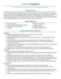 Resume Templates Clinical Director