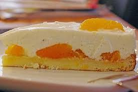 quark joghurt sahne torte mit mandarinen