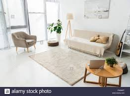 100 Image Of Modern Living Room Interior Of Modern Living Room With Laptop Carpet And Furniture