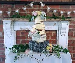 Rustic Semi Naked Bark Wedding Cake