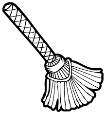 Broom clipart black and white free images 5