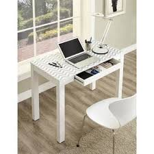 Mini Parsons Desk Knock Off by Contemporary Two Drawer Student Desk In White Free Shipping