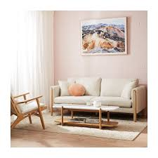 100 Sofa Modern Furniture Bronte 3 Seater Fabric Cream