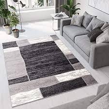 tapiso designer teppich wohnzimmer meliert bordüre in grau beige 80 x 150 cm