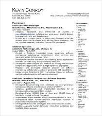 Web Developer Resumes Resume Template Doc Datainfo