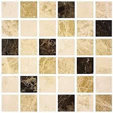 lps 10 stück kaffee braun creme marmor stein effekt mosaik fliesenaufkleber badezimmer küche schälen und stick auf der wall tile größe 6 x 6