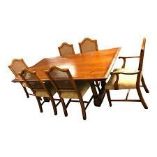 Windsor Furniture Natural Wood Dining Room Set For Sale
