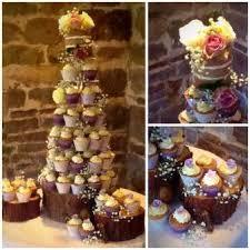 Rustic Naked Wedding Cake Cupcake Tower