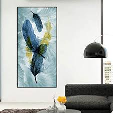 rtckf moderne aquarell leinwand bild schöne blaue stift