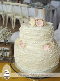 Vintage Inspired Ruffle Wedding Cake Kenilworth Homestead Gympie