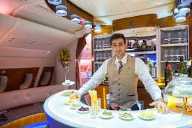 Emirates Airbus A380 Business Class Interior Editorial Stock