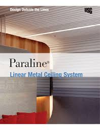 Usg Ceiling Tile Touch Up Paint by Usg Paraline Linear Metal Ceiling System Brochure English