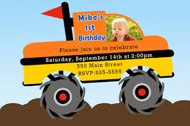 Kids Monster Truck Birthday Party Invitation, Monster Truck Birthday ... Free Printable Birthday Cards With Monster Trucks Awesome Blaze And The Machines Invitations Templates List Truck Party 50 Unique Ideas Cookie Free Pvc Invites Vip Invitation Novel Concept Designs Mud Thank You Card Truck Party Printable