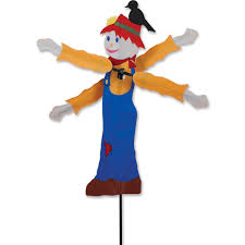 Fiber Optic Pumpkin Head Scarecrow by Fall Wind Spinners
