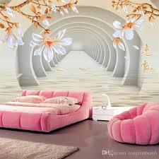 großhandel benutzerdefinierte große wandbilder dreidimensionale raum jade orchidee 3d tapete wohnzimmer tv sofa tapete schlafzimmer papel de parede