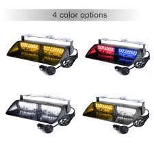16LEDs 18 Flashing Modes Car Truck Emergency Flash Dash Strobe Light ...