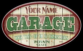 Personalized Garage Gift Unique Garage Sign Personalized