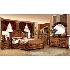 Sears Headboards Cal King by Furniture Of America Bellagrand Bedroom Set In Antique Tobacco Oak