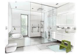 innenarchitektur zeichnung badezimmer