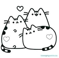 Coloring Pages Pusheen Best Of Kawaii Printable 107 15 115