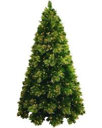 Mountain King 75 Pre Lit Artificial Christmas Tree Gold Tip Cashmere Clear Lights