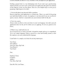 Nursing Student Cover Letter Cover Letter Nursing Student Experience