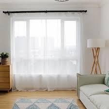 tüll vorhänge moderne weiße farbe plaid bestickt wohnzimmer schlafzimmer nach maß translucidus gardinen rideaux continas