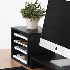 Desk Drawer Organizer Amazon by Amazon Com Fitueyes Wood Desk Organizer Workspace Organizers