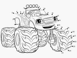 100 Monster Truck Coloring Book 53 Blaze And The Machine Pages Pagessbid