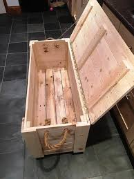 diy pallet chest from only pallets wood 101 pallet ideas