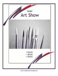 Art Show Flyer Printable Template