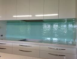 Aqua Textured Glass Kitchen Splashback Kitchensplashbacks