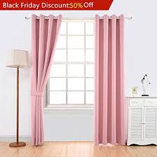 Light Pink Ruffle Blackout Curtains by Amazon Com Yoja Thermal Insulated Window Treatment Blackout