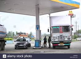 100 Gas In Diesel Truck Cars And Trucks Filling Petrol And Diesel At A Gas Station In India
