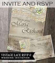Rustic Wedding Invitation RSVP DIY Invite With