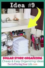 dollar store organizing 27 genius bathroom organization