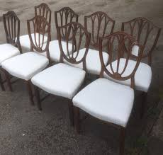 Eight Mahogany Hepplewhite Dining Chairs Circa 1920 | 348742 ... 4 Hepplewhite Style Mahogany Yellow Floral Upholstered Ding Chairs Style Ding Table And Chairs Pair George Iii Mahogany Armchairs Antique Set Of 8 English Georgian 12 19th Century Elegant Mellow Edwardian Design Antiques World 79 Off Wood Hogan Side Chair Eight Late 18th Of