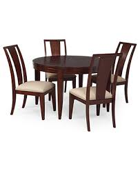 prescot dining room furniture 5 piece set round table and 4