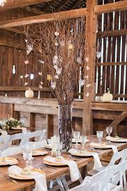 Rustic Themed Wedding Entourage Decor Ideas At The Barn