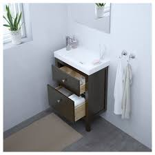 Ikea Hemnes Bathroom Storage by Hemnes Hagaviken Sink Cabinet With 2 Drawers Gray Ikea
