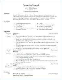 Waitress Resume Template Examples Elegant Of Example Related Post No Experience