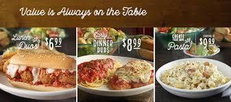 Olive Garden Italian Restaurant Family Style Dining